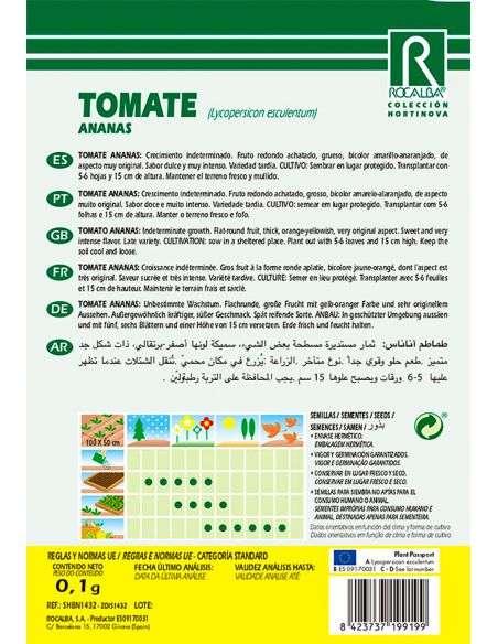 Semillas de Tomate Ananas