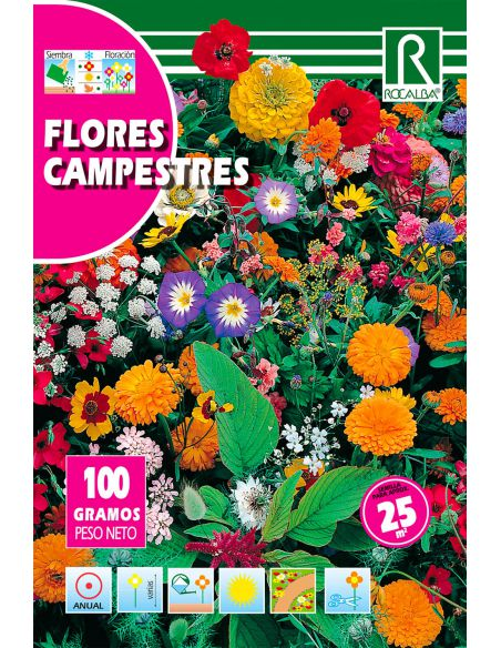 Semillas Mix de Flores Campestres 100g (para 25m2)