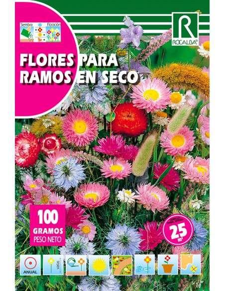 Semillas Mix de Flores para Ramos en Seco 100g (para 25m2)