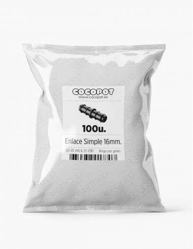 Pack Ahorro - 100u. Enlace simple unión 16mm