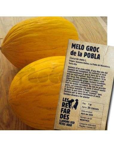 Semillas Ecológicas Melón amarillo de la Pobla