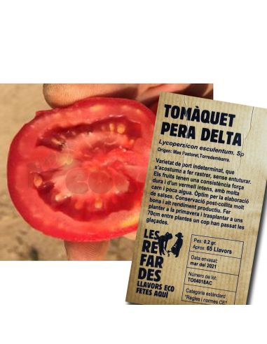 Semillas Ecológicas Tomate Pera Delta
