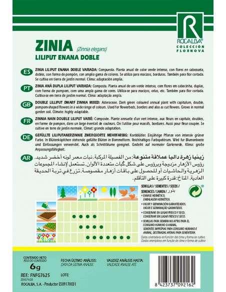 Semillas de Zinnia Lilliput variada Doble