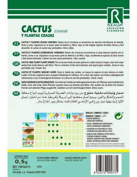 Semillas de Cáctus y Plantas Grasas Variadas