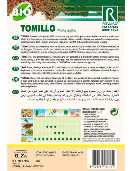 Semillas de Tomillo Ecológicas