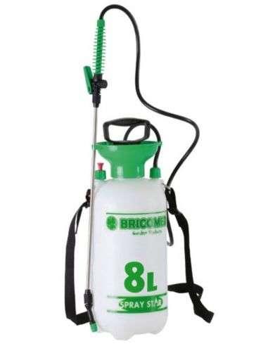 Pulverizador 8 litros presión previa con lanza metálica