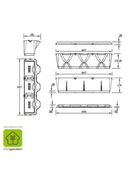 Jardín vertical Minigarden Blanco MiniGarden - 15
