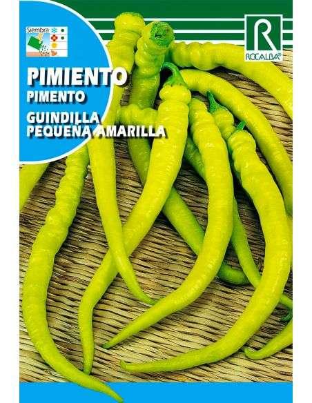 Semillas de Pimiento Picante Guindilla pequeña amarilla 1g.