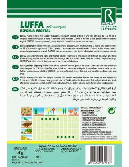 Semillas de Luffa - Calabaza Esponja natural 3g.