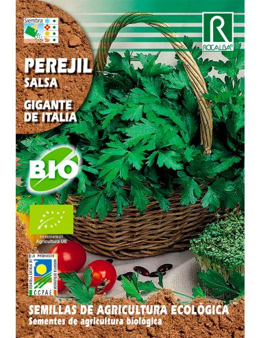 Semillas Ecológicas Perejil Gigante Italia 6g.
