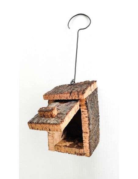 Caja Nido de Corcho Natural entrada 3cm