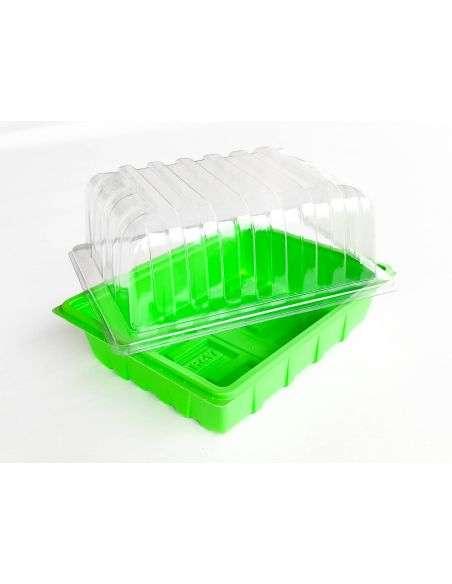 3u. Mini invernaderos ligeros peq. 23x18x13cm.