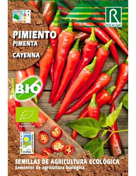 Semillas Ecológicas de Pimiento Picante Cayena 0,2g. (cayenne, cayenna)