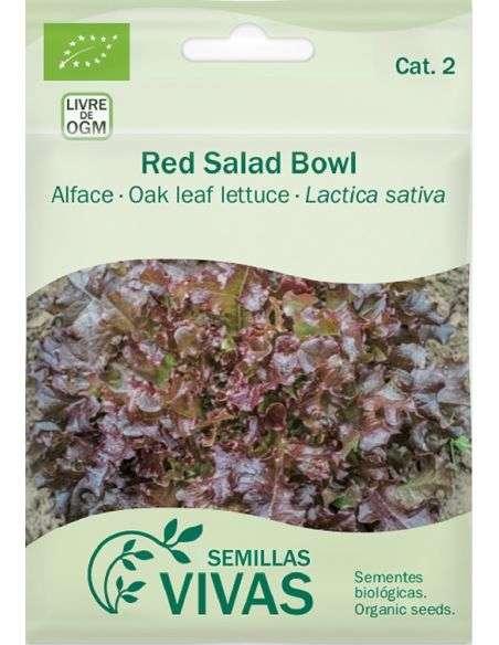Semillas Ecológicas Lechuga Red Salad Bowl - 1g.