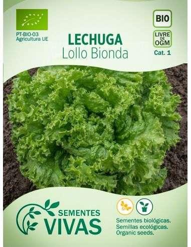Semillas Ecológicas Lechuga Lollo Bionda - 1g.