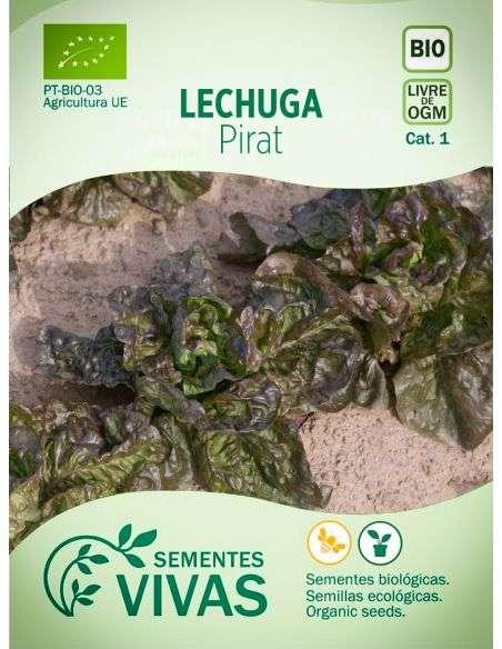 Semillas Ecológicas Lechuga Pirat - 1g.