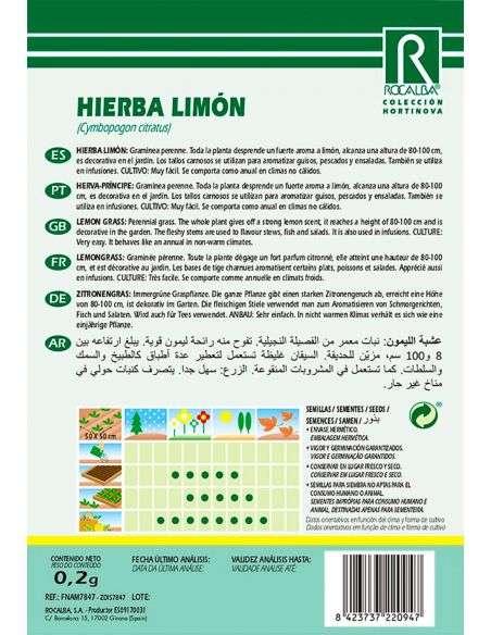 Semillas de Hierba Limón - 0,2g.