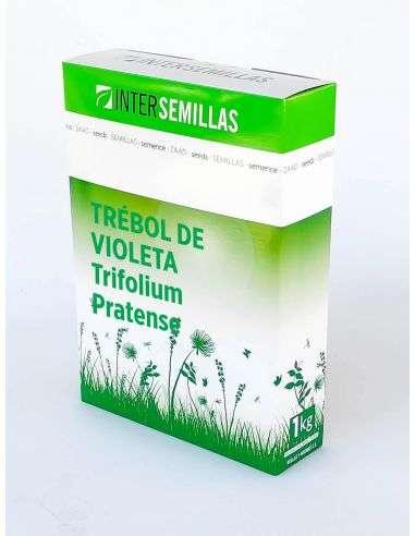 Semillas Ecológicas Abono Verde Trébol Violeta (Trifolium pratense Rozeta) 1Kg.