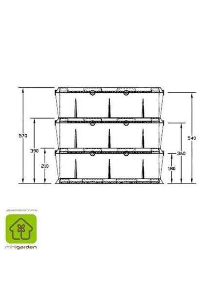 Jardín vertical Minigarden Negro MiniGarden - 32