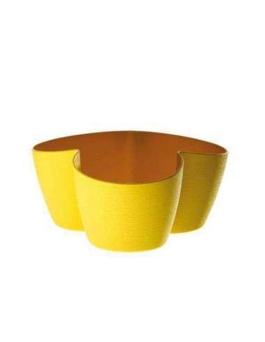 Portamacetas Asso3 Amarillo 3x10cm. ERBA - 1