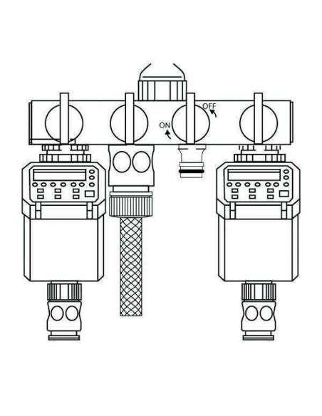 """Adaptador Válvula 4 vías 1/2"""" y 3/4"""" COCOPOT - 2"""