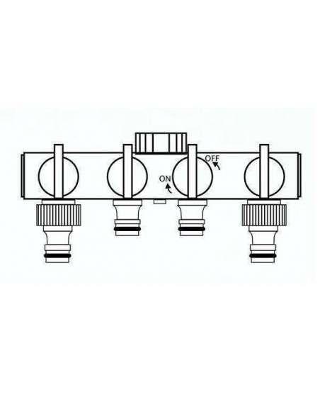 """Adaptador Válvula 4 vías 1/2"""" y 3/4"""" COCOPOT - 4"""