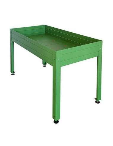 Mesa cultivo verde 150x75x85cm en cocopot huerto urbano - Drenaje mesa de cultivo ...