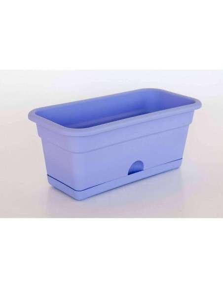 Jardinera con plato 50x20cm Azul COCOPOT - 1