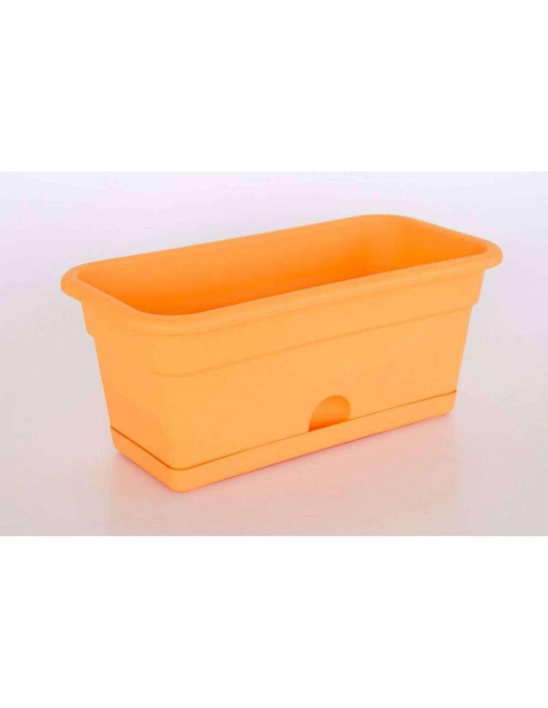 Jardinera con plato 40x20cm naranja cocpot huerto urbano - Jardineras huerto urbano ...