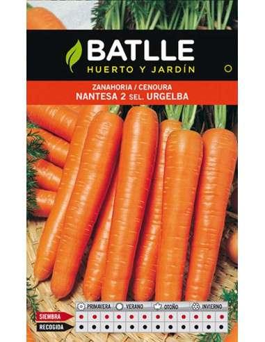 Zanahoria Nantesa 2 Sel. Urgelba 25g.