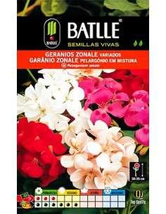 Semillas de Geranios ZONALE Variados Semillas Batlle - 1