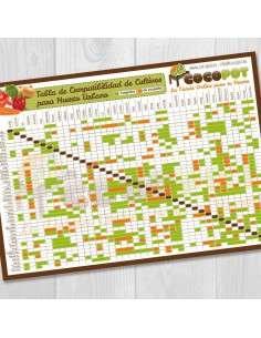 Lámina Tabla de Compatibilidad de Cultivos