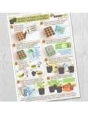 Lámina Guía Huerto en Macetas, siembra en semillero