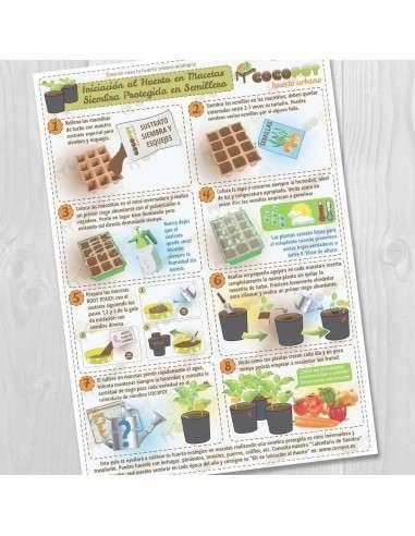 Lámina Guía Huerto en Macetas, siembra en semillero COCOPOT - 1