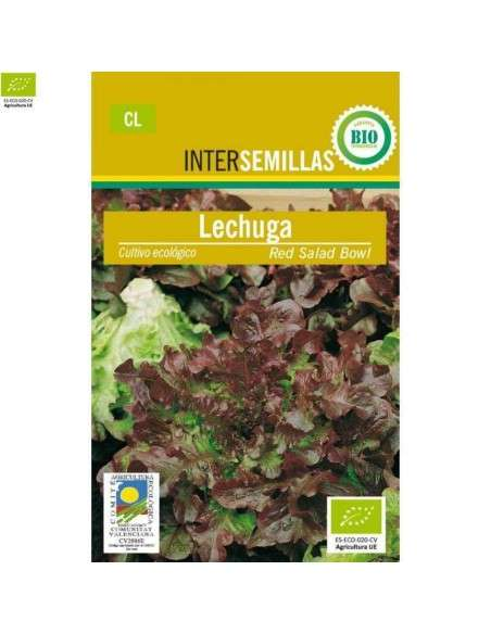 Semillas de Lechuga Hoja Roble Ecológicas 100g. INTERSEMILLAS - 1