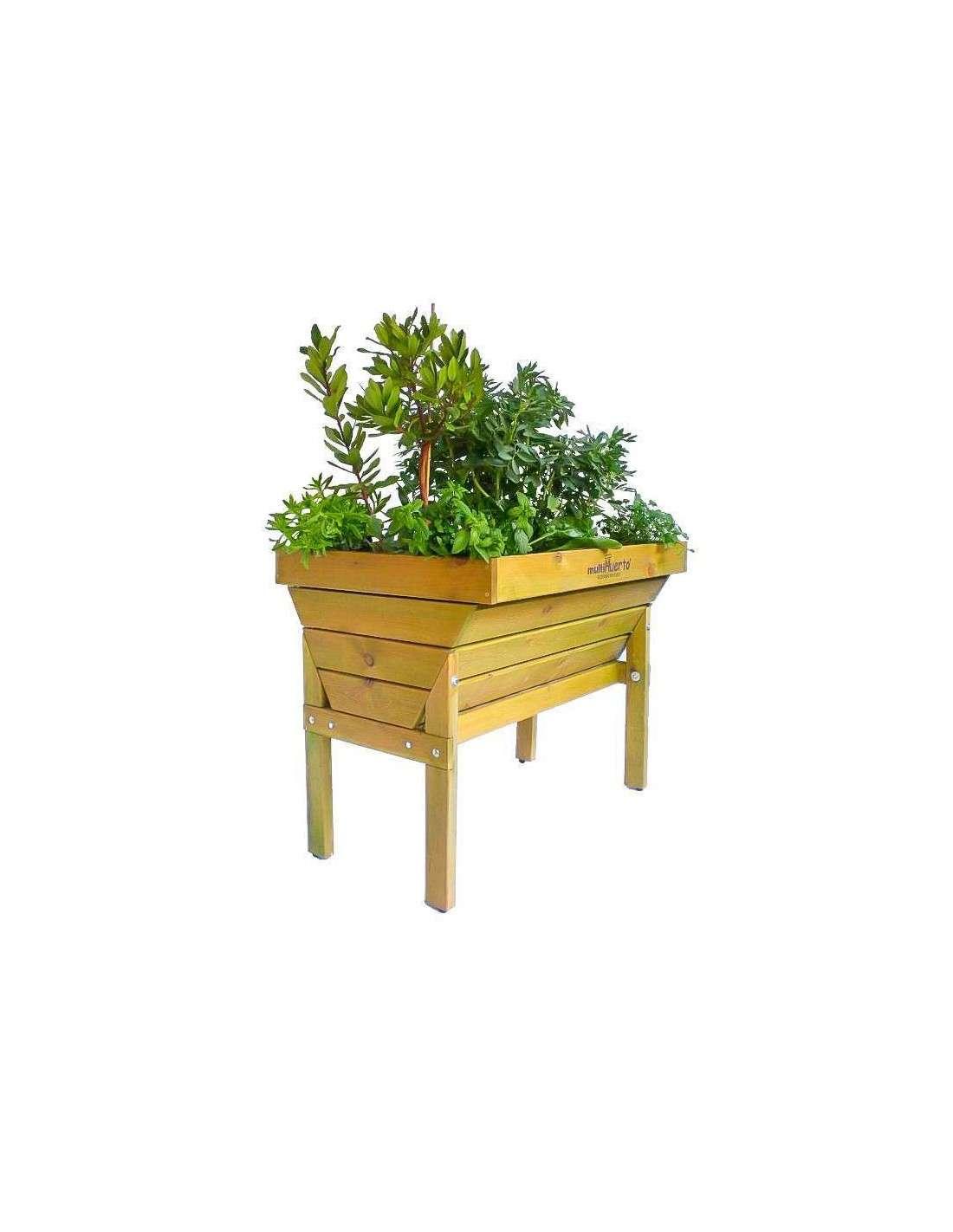 mesa de cultivo multihuerto 100x70x80cm cocopot huerto urbano