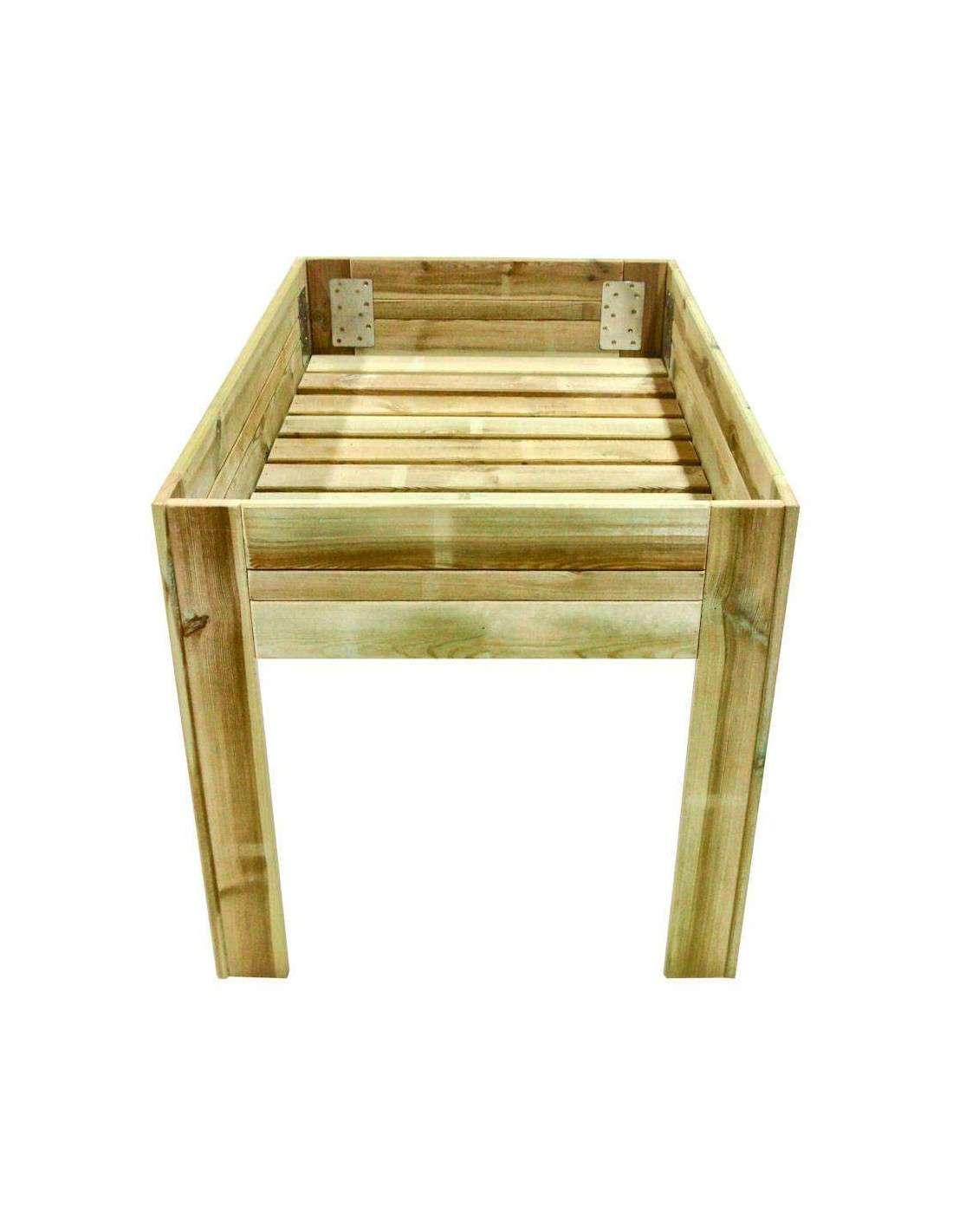 Mesa de cultivo 120x80cm solo 154 en cocopot huerto urbano - Drenaje mesa de cultivo ...
