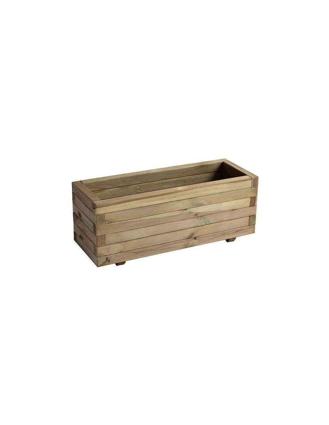 Jardinera rectangular madera fsc 60x60x30cm por 35 en cocopot for Jardineras verticales de madera