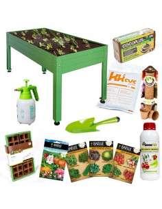 Kit Iniciación Huerto 150x75x65 Verde Cultiva en casa - 1