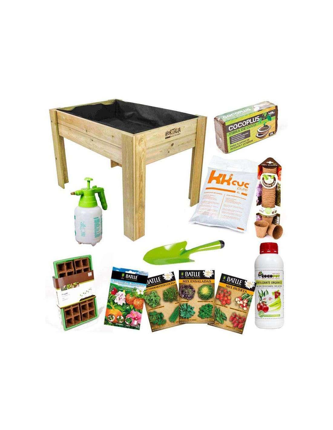 kit huerto urbano con mesa de cultivo cocopot cultiva en