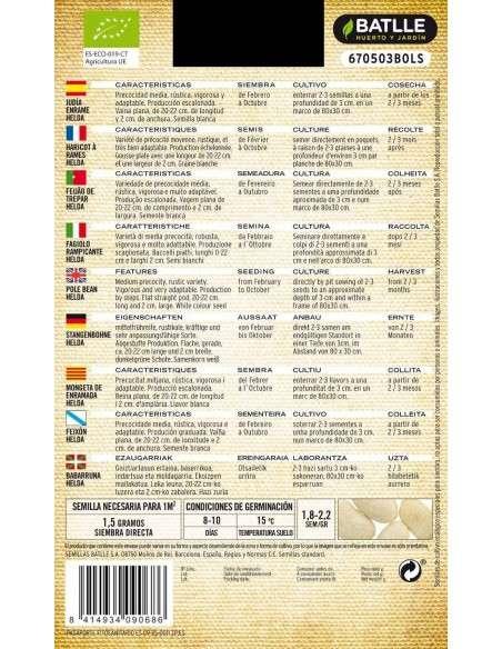 Semillas de Judías Enrame Helda Ecológicas Semillas Batlle - 2