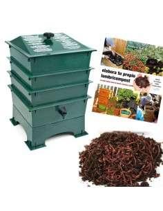Kit Vermicompostaje Verde COCOPOT - 1