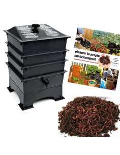 Kit Vermicompostaje Negro COCOPOT - 1