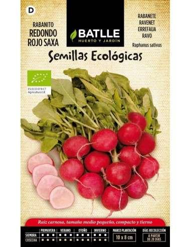 Rabanito Redondo rojo Saxa Ecológicas
