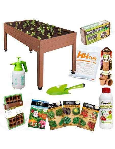 Kit Iniciación Huerto 150x75x65 Marrón Cultiva en casa - 2