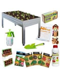 Kit Iniciación Huerto 150x75x65 Galvanizado Cultiva en casa - 4