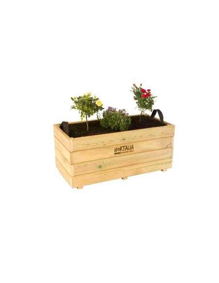 Jardinera de Madera 120x45x40cm Hortalia HORTALIA - 2