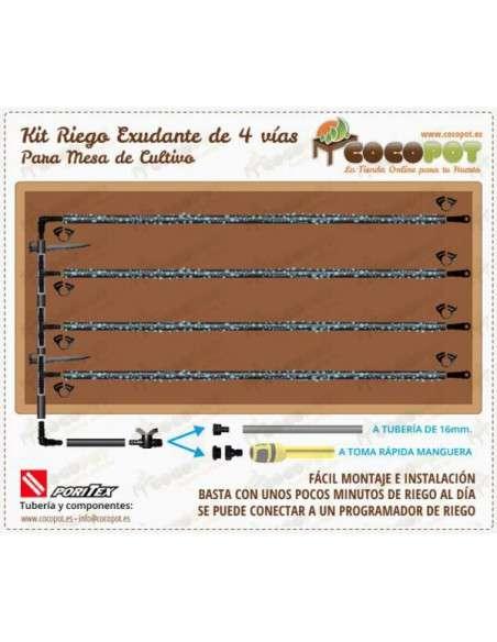 Kit Riego Exudante Mesa Cultivo PORITEX - 1
