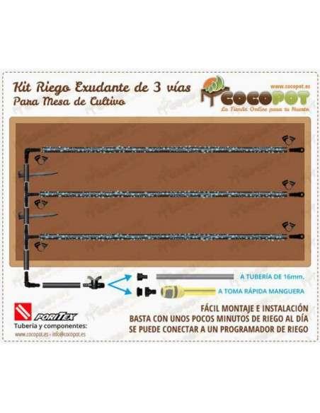 Kit Riego Exudante Mesa Cultivo PORITEX - 2