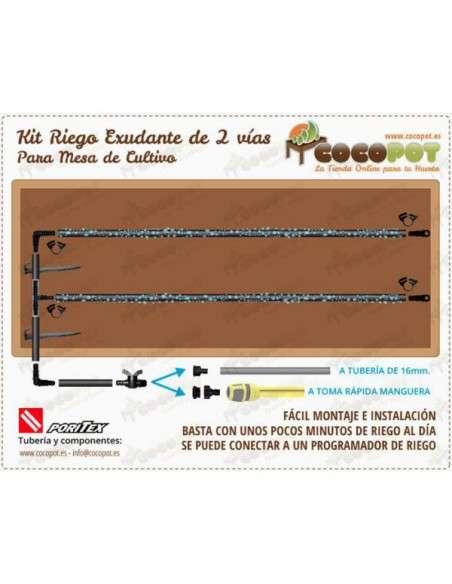 Kit Riego Exudante Mesa Cultivo PORITEX - 3